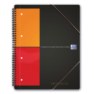 Oxford International Meetingbook A5+, kariert