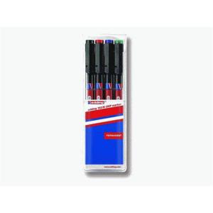 edding 142 M permanent pen Folienschreiber - 1 mm - 4er Set