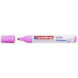 edding 4500 Textilmarker - Rundspitze - 2-3 mm - rosa