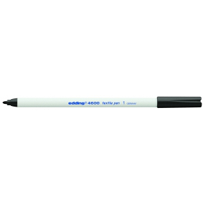 edding 4600 Textilstift - Rundspitze - 1 mm - schwarz