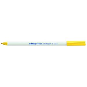 edding 4600 Textilstift - Rundspitze - 1 mm - gelb