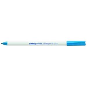 edding 4600 Textilstift - Rundspitze - 1 mm - hellblau