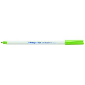 edding 4600 Textilstift - Rundspitze - 1 mm - hellgrün