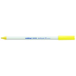 edding 4600 Textilstift - Rundspitze - 1 mm - neongelb