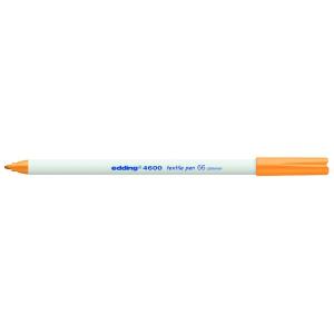 edding 4600 Textilstift - Rundspitze - 1 mm - neonorange