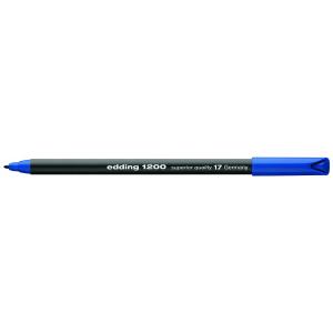 edding 1200 colour pen fine Fasermaler - 1 mm - stahlblau