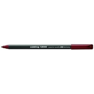 edding 1200 colour pen fine Fasermaler - 1 mm - englischrot
