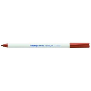 edding 4600 Textilstift - Rundspitze - 1 mm - braun