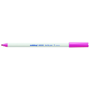 edding 4600 Textilstift - Rundspitze - 1 mm - rosa