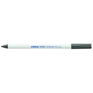 edding 4600 Textilstift - Rundspitze - 1 mm - grau