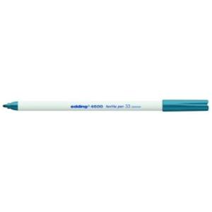 edding 4600 Textilstift - Rundspitze - 1 mm - orientblau