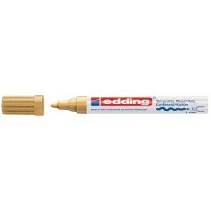 edding 4000 Mattlackmarker - Rundspitze - 4 mm - gold