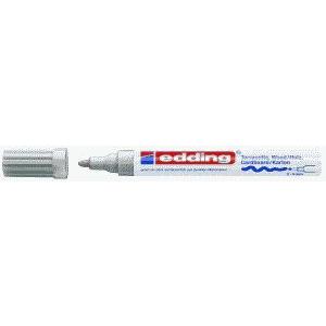 edding 4000 Mattlackmarker - Rundspitze - 4 mm - silber