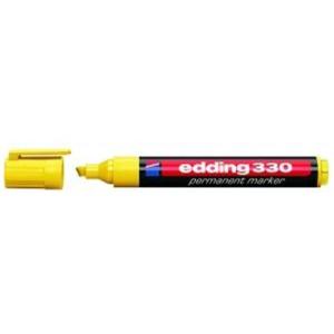 edding 330 Permanentmarker - Keilspitze - 1-5 mm - gelb