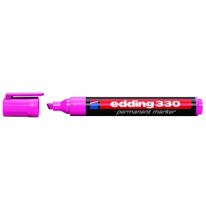 edding 330 Permanentmarker - Keilspitze - 1-5 mm - rosa