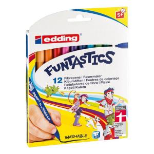 edding 15 Funtastics Kinderfasermaler - 1 mm - 12er Set