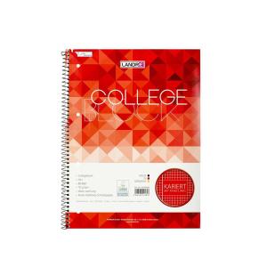 Landré Collegeblock Schule A4+ kar. Rand li. 80Bl