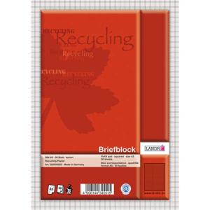 Landré Briefblock A5 Recycling 50Bl kar.