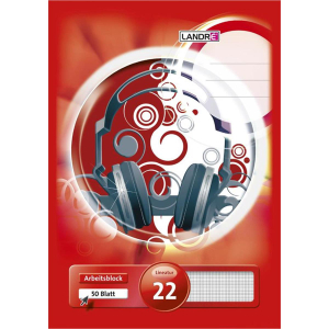 Landré Arbeitsblock - DIN A4 - Lineatur 22 - 50 Blatt