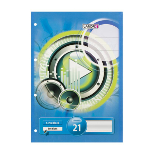 Landré Schulblock - DIN A4 - Lineatur 21 - 50 Blatt