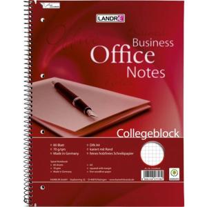 Landré Collegeblock Office A4, 80 Blatt, kariert