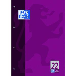 Oxford Schulblock - DIN A4 - Lineatur 22 - 50 Blatt