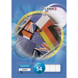 Landré Vokabelheft - DIN A4 - Lineatur 54 - 40 Blatt