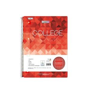 Landré Collegeblock A4 80 Blatt Lin38 kariert