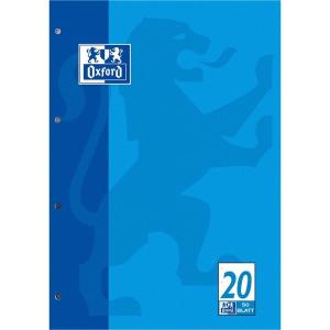 Oxford Schulblock - DIN A4 - Lineatur 20 - 50 Blatt