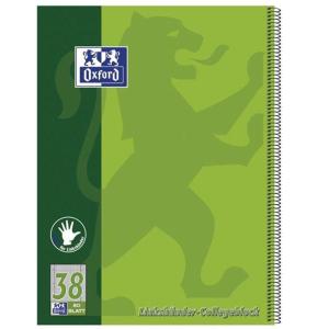 Oxford Collegeblock - DIN A4+ kariert - 80 Blatt -...