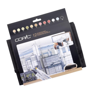 COPIC Classic 12er Wallet - Architekturfarben