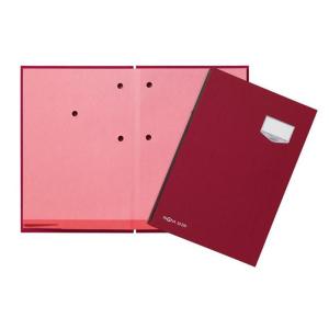 Unterschriftenmappe 20-teilig Leinen rot