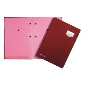Unterschriftenmappe Eco 10-teilig rot