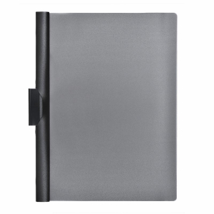 FolderSys Clip-Mappe, Transparent, schwarz
