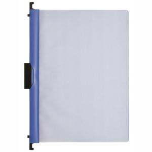 FolderSys Combi-Clip-Mappe, Transparent, blau, 1 Stück