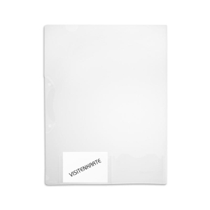 FolderSys Angebots-Hülle A4, Visitenkarten, trans...