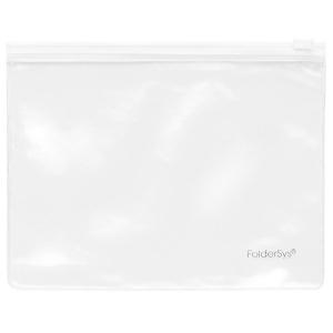 FolderSys Klarsicht-Sammelbeutel 175x135mm, Plastikzipp weis