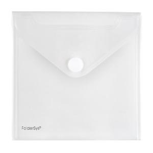 FolderSys CD-/Booklet-Umschlag, Klettverschluss, PP farblos
