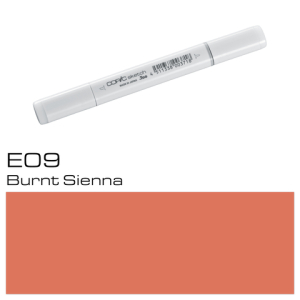 COPIC sketch E09 Burnt Sienna