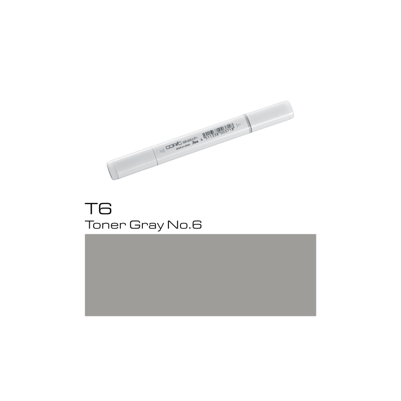 COPIC Sketch Marker T6 - Toner Gray No. 6