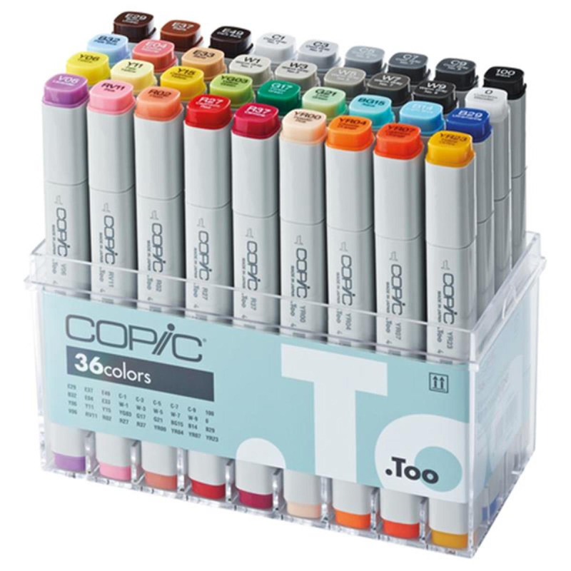 Copic Set Basis 36 Stück