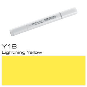 COPIC sketch Y18 Lightning Yellow