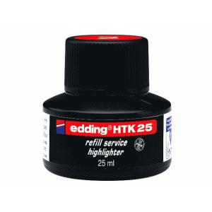 edding HTK25 Nachfülltinte Textmarker - rot - 25 ml...