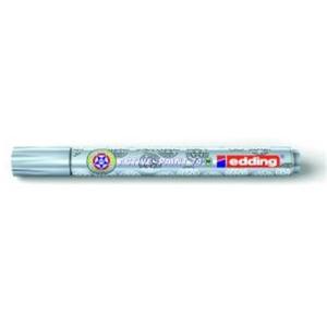 edding 74 M Active-Paint Glanzlackmarker - 1-2 mm - silber