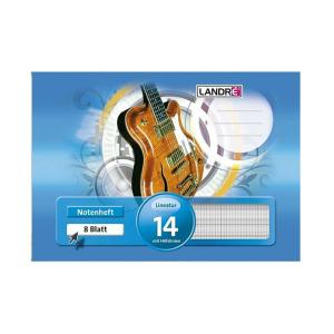 Landré Notenheft - DIN A5 quer - Lineatur 14 mit...