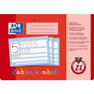 Oxford Zahlenlernheft - DIN A4 quer - Lineatur ZL - 16 Blatt