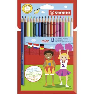 STABILO color Buntstift - 18er Set