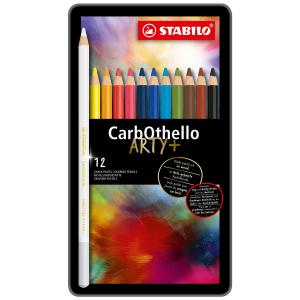 STABILO CarbOthello Pastellkreidestift - 12er Metalletui