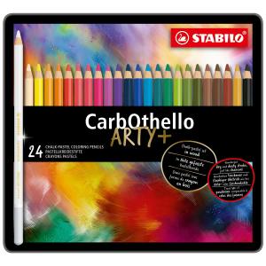 STABILO CarbOthello Pastellkreidestift - 24er Metalletui