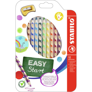 STABILO® Farbstift EASYcolors links Etui 12S